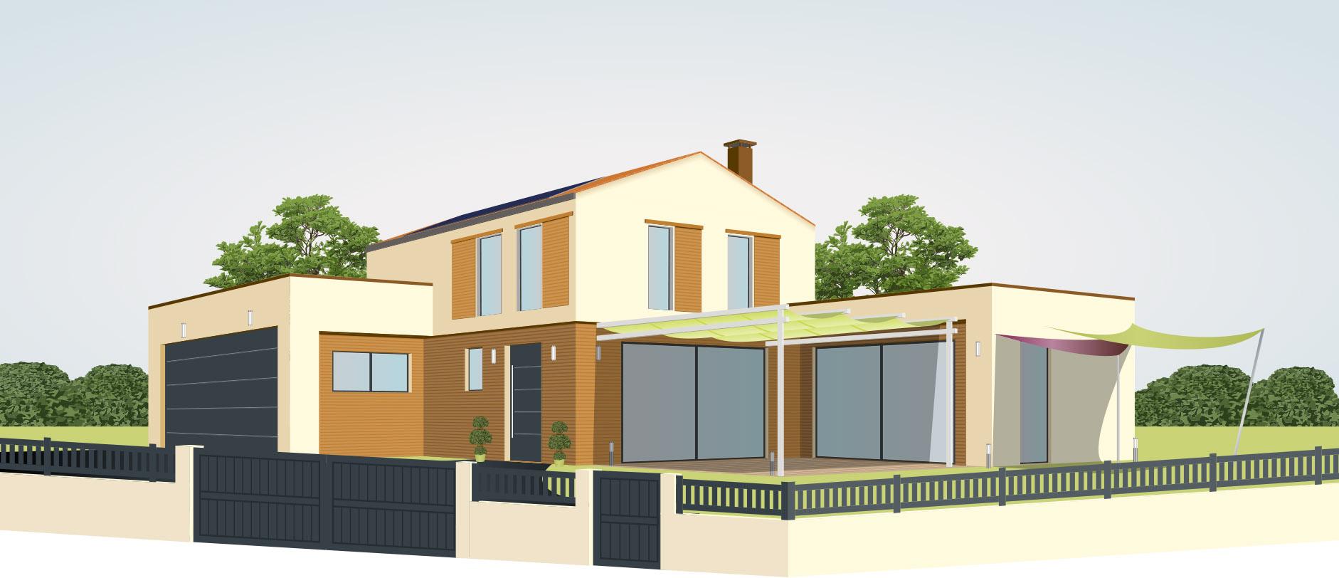 Maison moderne avec installation alu dans le Battenheim (68)   Fermetures Vonthron